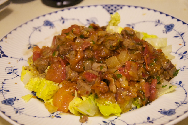Sausage Stirfry…Salad-ish…sorta awesomeness