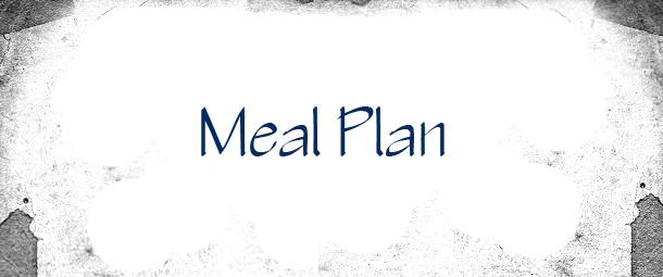 Meal Plan: Week of 1/11