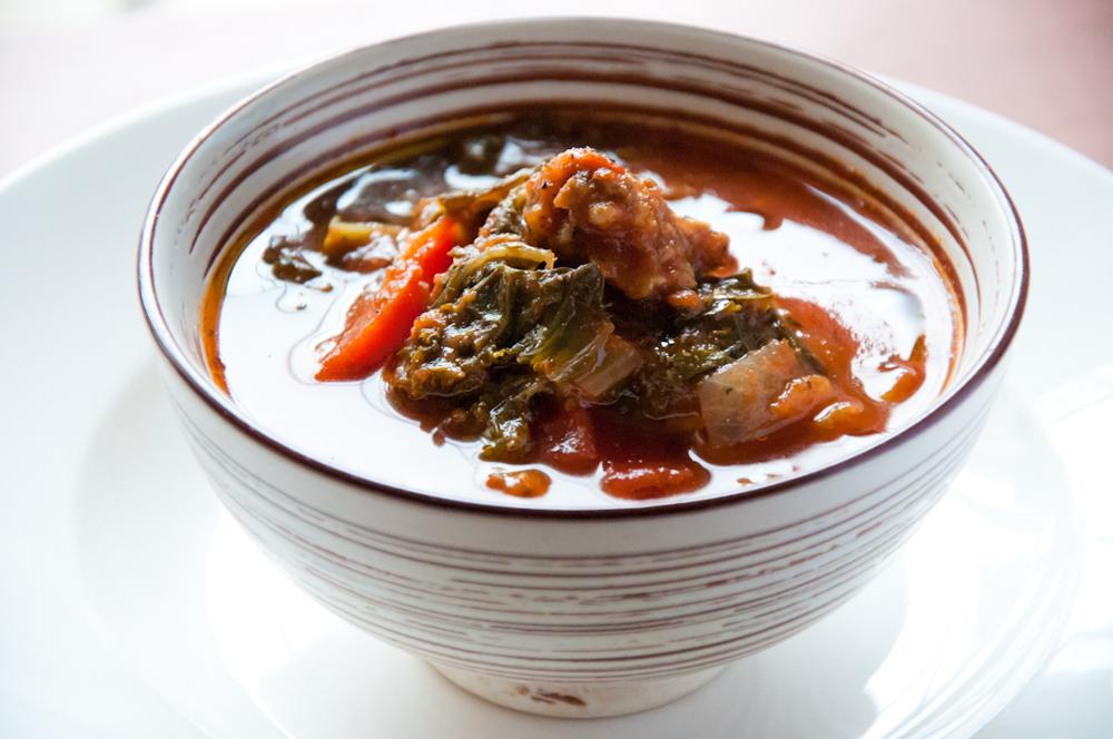 Kale + Tomato{ish} Soup