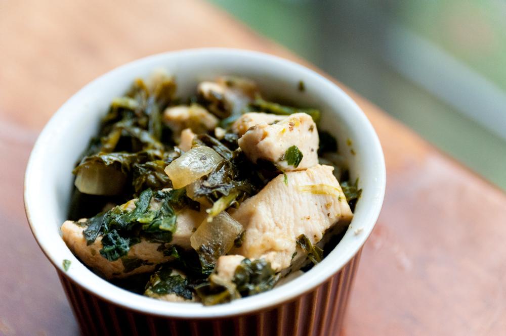 Easy Chicken + Spinach