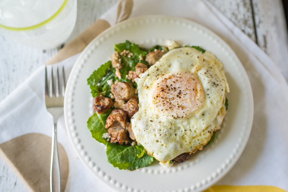 Fried Egg + Kale Salad