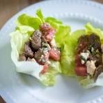 Steak + Watermelon Wraps | paleoonabudget.com