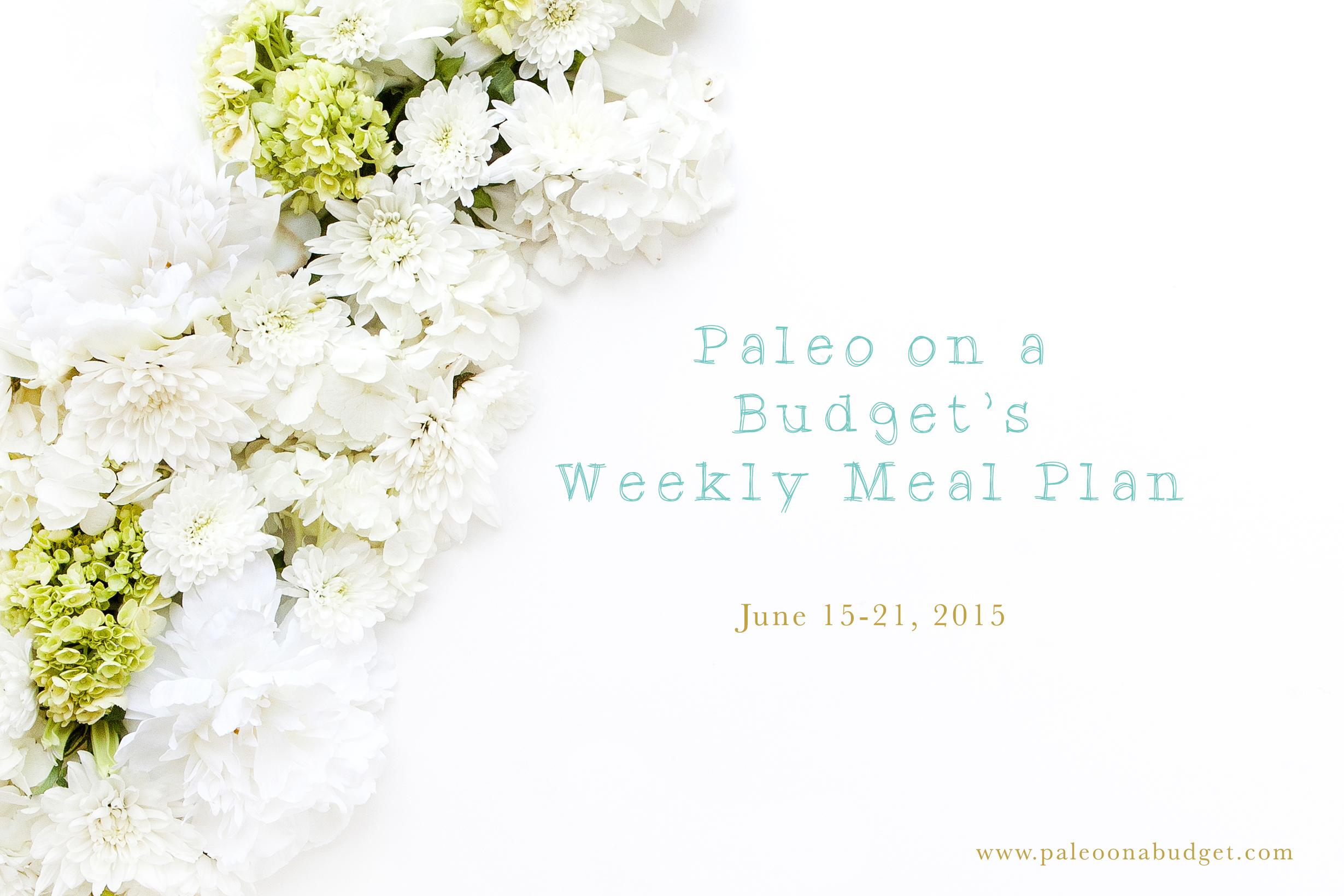 Paleo Weekly Meal Plan {Week of June 15}