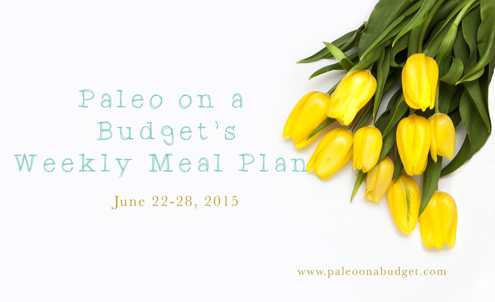 Paleo Meal Plan {Week of June 22, 2015}