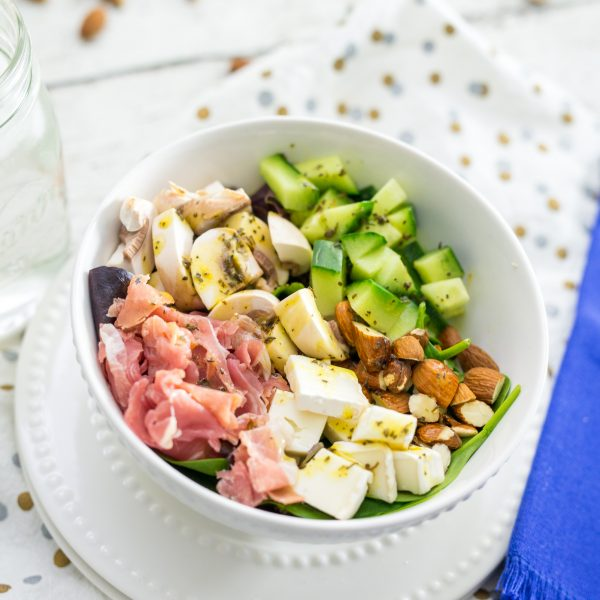 Easy + Quick Prosciutto & Veggie Salad