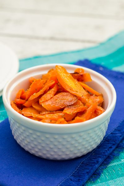 Quick + Easy Roasted Rosemary Carrots | Paleo On A Budget