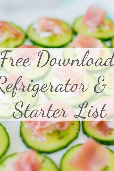 Free Download: Paleo Refigerator + Pantry Starter List | Paleo on a Budget