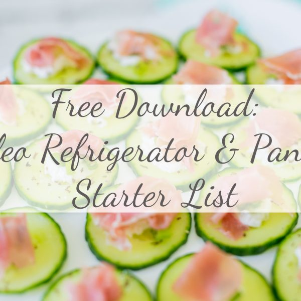 FREE Download | Paleo Refrigerator + Pantry Starter List